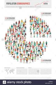 Population World Map by Population Demographics Infographic World Map Composed Of People