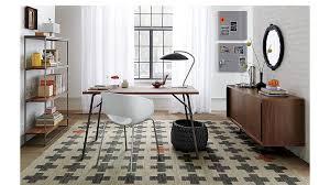 White Desk And Chair Orbit Round White Chair Cb2