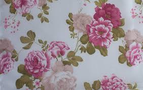 vintage cabbage rose print taffeta fabric products available
