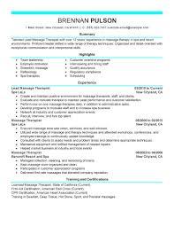 Sample Mental Health Counselor Resume Massage Therapy Resume Examples Free Resume Example And Writing