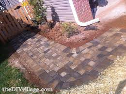 Basket Weave Brick Patio by Paver Path Hard Work But Worth Every Sore Muscle The Diy Village