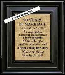 30 year anniversary gifts framed 50th wedding anniversary 50th anniversary gifts 50th