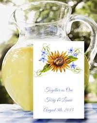 sunflower seed wedding favors wedding flower seed favor packets in trendy
