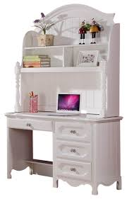 stylish white desk with hutch and drawers desk rekomended white