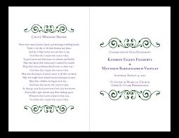 layout of wedding ceremony program wedding ceremony program layout diy wedding 21070