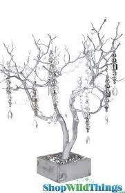 natural manzanita centerpiece tree silver wedding wishing tree