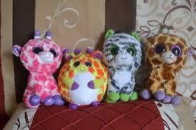 lot 4 retired ty beanie boos twigs giraffe safari zig zag