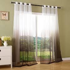 Gardinen Schlafzimmer Braun Schal Transparent Farbverlauf Vorhang Mit ösen Gardine Voile 2