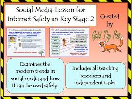 social media lesson for primary internet safety and e safety by