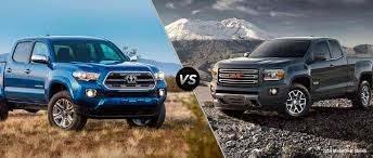 Tacoma Redesign Toyota Tacoma Vs 2016 Gmc Canyon