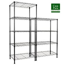 etagere cuisine metal étagère de rangement en métal casa pura rocky noir tailles au