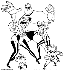 incredibles color disney coloring pages color plate