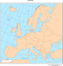 Map Of Mediterranean Europe by Europe Map With Cities Blank Outline Map Of Europe