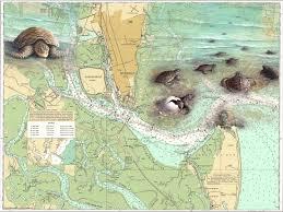 Jekyll Island Map Frame Gallery U0026 Gifts