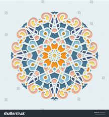 mandala lace ornament cards invitations stainedglass stock vector