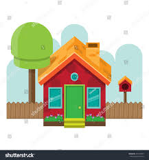 vector illustration frontal isometric simple house stock vector