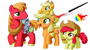 mlp applejack and friends my little pony coloring book