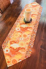 autumn floral table runner fall decor thanksgiving table boho