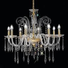 Crystal Glass Chandelier Amadeo