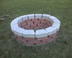 Firepit Bricks Uncategorized Brick Home Pit Designs With White Brick