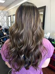low light hair color hair done by delana ash brown balayage with low lights and a