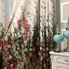 Jungle Blackout Curtains Luxury Thick Chenille Jacquard Half Blackout Curtains Living Bed