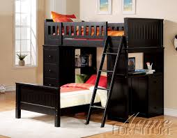 Willoughby Black Loft Twin Bunk Bed All American Furniture Buy - Twin bunk beds with desk