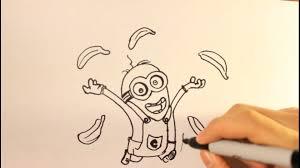 draw minion easy step step drawing tutorial banana