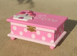 girl jewelry box personalized castle jewelry box personalized kids jewelry box pink wood box