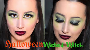 easy wicked witchhalloween makeup tutorial green eyes u0026 ombre