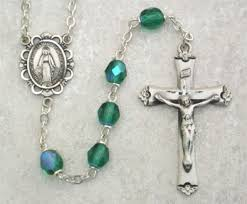 birthstone rosary may birthstone rosary emerald in sterling silver