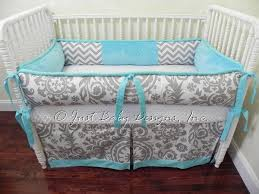 Custom Crib Bedding Sets Custom Crib Bedding Set Emilee Gray Chevron By Babybedding On Zibbet