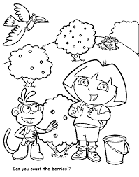 dora explorer coloring pages kids coloring
