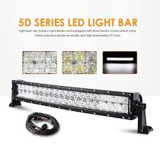 led equipped light bar led light bar 22 inch 120w auxbeam curved cree spot flood light off