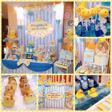 an adorable rubber ducky themed birthday party backdrop u0026 candy