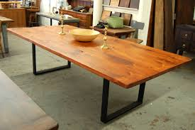 wood table with metal legs steel legged farm table lorimer workshop