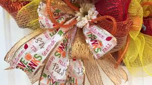 thanksgiving deco deco mesh thanksgiving give thanks turkey wreath youtube