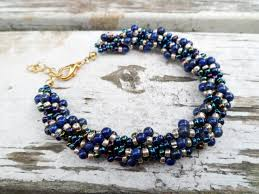 bead rope necklace images Pandahall jewelry making tutorial video how to make lapis and jpg