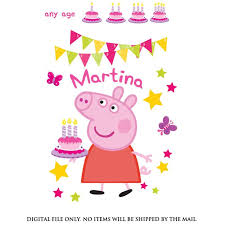 peppa pig birthday 23 best peppa pig birthday party tshirt iron on transfer images on
