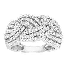 braided band 1 ct diamond braided band ring in 10k white gold 1 ct diamond