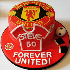 50th birthday manchester united themed cake gallery 2 chefs