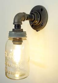 do it yourself light fixture mason jar wall light for home way trend light