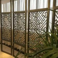 china modern design laser cut partition screen restaurant metal