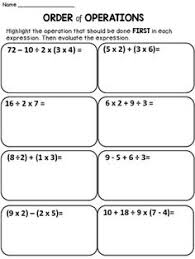 Order Of Operations Worksheet Answers Practice The Order Of Operations With These Free Math Worksheets