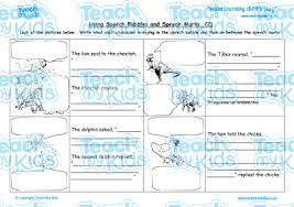 using speech bubbles and speech marks 2 teach my kids