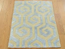 Modern Oriental Rugs 2 U0027 X 3 U0027 Wool And Silk Modern Oriental Rug Geometric Design Hand