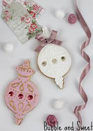 bubble and sweet elegant ornament cookies