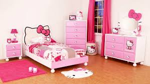 Rugs For Little Girls Bedroom Bedroom Feminine Hello Kitty Bedroom With Pink Bed Feat White