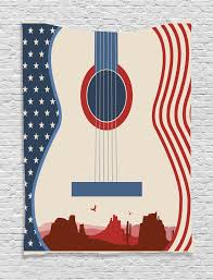 american wall hanging tapestry country music guitar home decor ebay