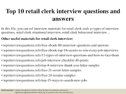 retail clerk resume top 10 retail clerk interview questions and answers